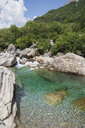 Switzerland, Ticino, Verzasca Valley, turquoise and clear Verzasca river - GWF05949