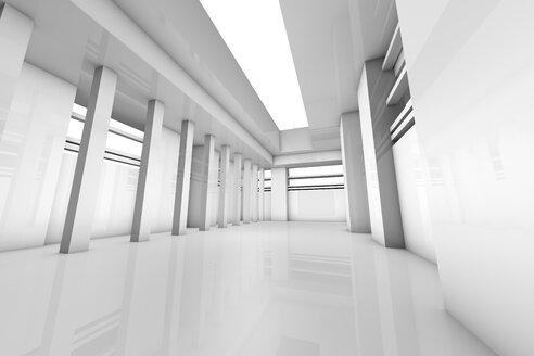 Futuristic white room, 3D Rendering - SPCF00367