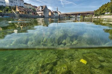 Switzerland, Thurgau, Diessenhofen, over-under image - SH02059