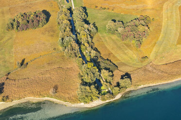 Germany, Baden-Wuerttemberg, Lake Constance, Constance, aerial view Wollmatinger Ried in autumn - SH02120