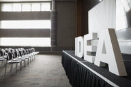 Empty auditorium with Idea letters on stage - HEROF27936
