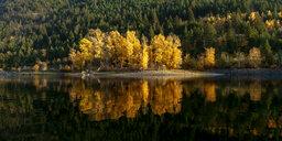 Canada, British Columbia, Shuswap Lake in autumn - GNF01431