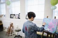 Female artist painting in studio - HEROF28185