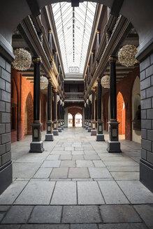 Germany, Mecklenburg-Western Pomerania, Stralsund, Townhall, passage, courtyard - MAM00491