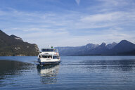 Austria, Alps, Salzburg, Salzkammergut, Salzburger Land, excursion boat on Wolfgangsee, St. Gilgen region - GW05999