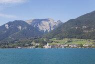 Austria, Alps, Salzburg, Salzkammergut, Salzburger Land, St. Wolfgang at Wolfgangsee, Schafberg - GWF06017