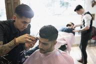 Barber trimming man - HEROF29735