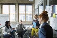 Architects brainstorming in meeting - HEROF29768