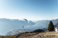 Switzerland, Ticino, Locarno, Ascona, Lake Maggiore, Paragliders - WFF00031