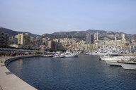 Monaco, Monte Carlo, view over the harbor and La Condamine - HLF01150