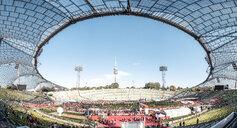 Germany, Munich, Olympic Stadium during marathon - WF00050