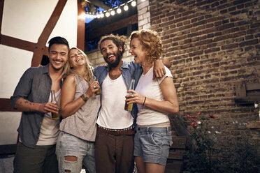 Friends having fun at a backyard party - PDF01881