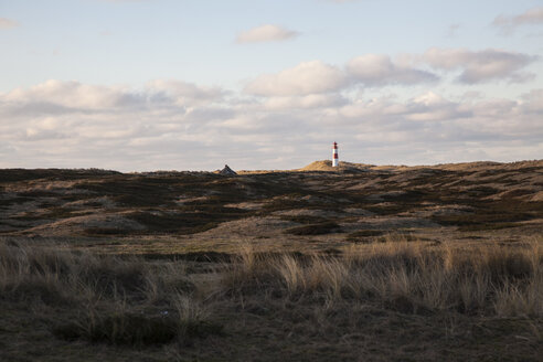 Germany, Sylt, Schleswig Holstein Wadden Sea National Park, dune landscape, Ellenbogen, lighthouse List Ost - ANHF00060