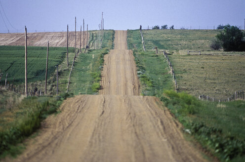 Unpaved Country Road in South Dakota - MINF10991