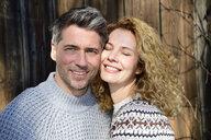 Germany, Bavaria, portrait of happy couple - ECPF00553