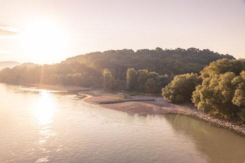 Austria, Lower Austria, Danube river at sunrise - AIF00646