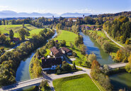 Germany, Bavaria, Upper Bavaria, Alpine foothills, Toelzer Land, Aerial view of Loisach Isar Canal and Loisach, Beuerberg, near Eurasburg - SIEF08436