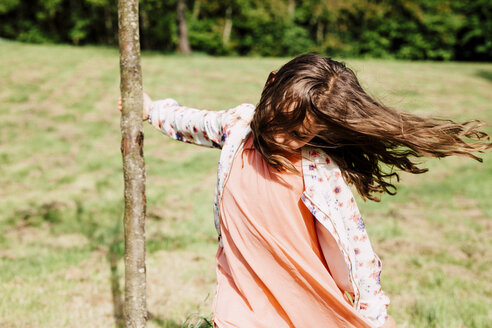 Girl playing in nature - ANHF00102