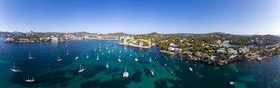 Mallorca, Santa Ponca, Aerial view of bay - AMF06848