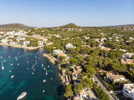 Mallorca, Santa Ponca, Aerial view of bay - AMF06851