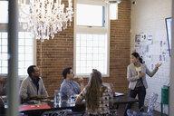 Designers meeting brainstorming in conference room - HEROF30518