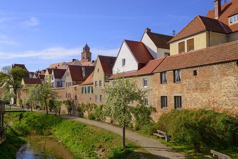 Kleine Wörnitz, Donauwörth, Schwaben, Bayern, Deutschland - LBF02495
