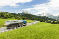 Austria, Styria, Loser window in the background, truck on federal highway - AIF00656