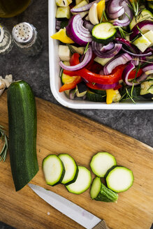 Mix of raw vegetables in casserole - GIOF05872