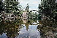 Tranquil Rakotzbruecke Devils Bridge, Rakotzbruecke, Brandenburg, Germany - FSIF03916