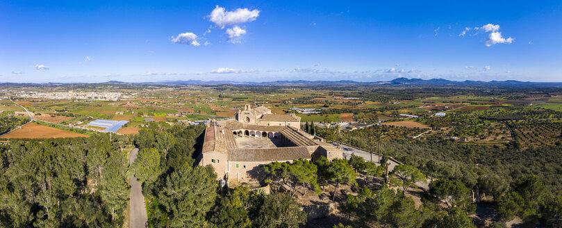 Spain, Majorca, aerial view over Santuari de Monti Sion - AMF06889