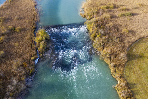 Germany, Bavaria, Loisach, Lake Kochel, aerial view - SIEF08487