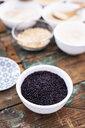 Black rice in bowl - GIOF05945