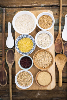 Buckwheat, red rice, bulgur, rice, amaranth, oats, barley and spelt - GIOF05948