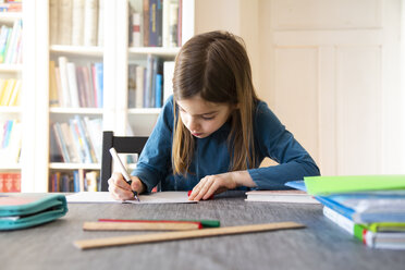 Girl doing homework - LVF07941