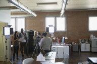 Creative business people filming tutorial - HEROF34270