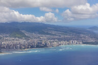 USA, Hawaii, Oahu, Honolulu, Waikiki Beach, Aerial view - FOF10508