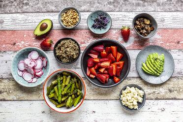 Fresh ingredients for a veggie bowl - SARF04219
