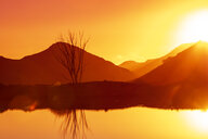 South Africa, Cape Town, landscape, lake at sunset - ZEF16136