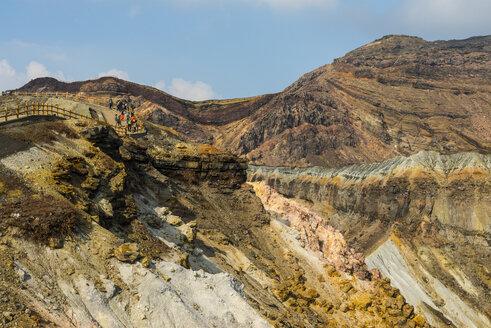 Japan, Kyushu, Mount Aso, Mount Naka, crater rim - RUN01785