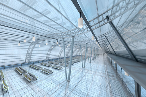 3D Rendered Illustration, Architecture visualization of an airport - SPCF00393