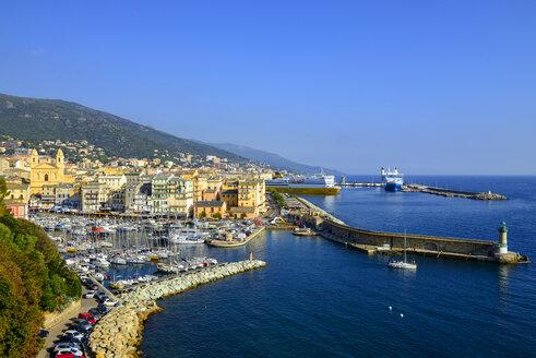 France, Corsica, Bastia, old harbour - LBF02523