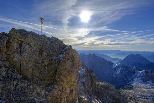 Germany, Bavaria, Alps, Zugspitze, summit cross - LBF02526