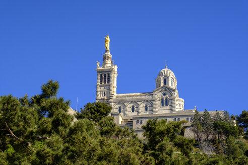 Basilika, Basilique Notre-Dame de la Garde, Marseille, Provence-Alpes-Côte d'Azur, Frankreich - LBF02550