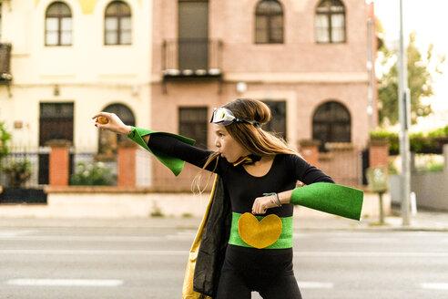 Girl posing in super heroine costume - ERRF01050