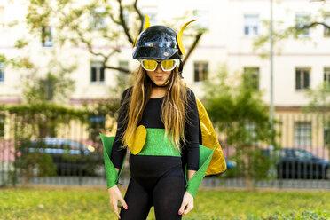 Girl posing in super heroine costume - ERRF01053