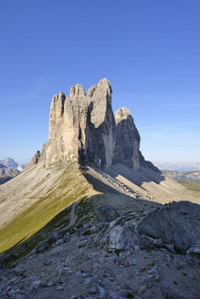 Italy, Sexten Dolomites, Tre Cime di Lavaredo, Nature Park Tre Cime, Unesco World Heritage Natural Site - RUEF02147