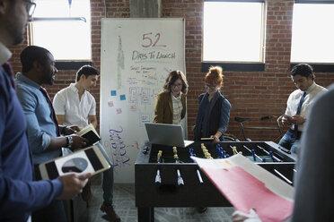 Entrepreneurs brainstorming in office - HEROF35863