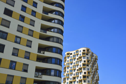 detail of futuristic architecture, isartower, siemenswerke, munich, bavaria, germany - AXF00823
