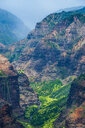 USA, Hawaii, Kauai, Overlook over the Waimea canyon - RUNF01835