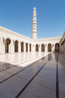 View og the minaret of the Sultan Qaboos Grand Mosque, Muscat, Oman - WV01216